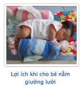 Lợi ích khi ho bé nằm giường ươiis
