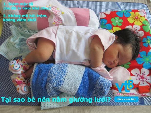 Giường lưới cho bé Vuông Tròn8